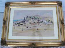 """BERTHOMME ST-ANDRE (1905-1977) """"Paysage de Bône"""" (Algérie-Annaba) Aquarelle 1927"""