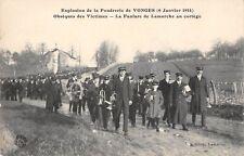 CPA 21 EXPLOSION DE LA POUDRERIE DE VONGES 1914 OBSEQUES DES VICTIMES FANFARE