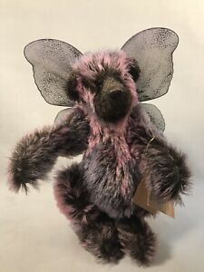 PV04957 Vintage Handcrafted Artist Bear Out Of The Woods Purple - MOON BEAM