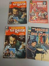 4 Comic Books 2 Edgar Allen Poe's The Raven, Masque of Red Death, Boris Karloff