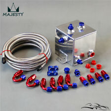 2 Litre Universal Fuel Surge Tank 2000ml Swirl Pot System w/ fitting & pipe BL