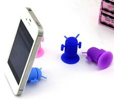 5pc robot Silicone sucker phone support   A123