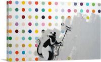 ARTCANVAS Rat Spots Banksy vs Hirst Canvas Art Print by Banksy