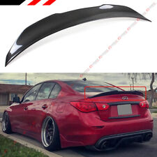 FOR 14-2020 INFINITI Q50 PSM STYLE HIGH KICK CARBON FIBER DUCKBILL TRUNK SPOILER