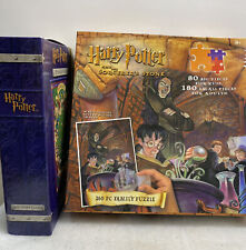 VINTAGE Harry Potter Puzzle Lot and t260 Pc. With Family Puzzle Decoder