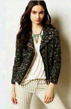 Anthropologie Floreffe Motto Jacket By Essentiel Black & Tannish Size 40  $298