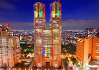 "MEGACITY TOKYO NEW A1 CANVAS PRINT POSTER FRAMED 33.1""x23.4"""