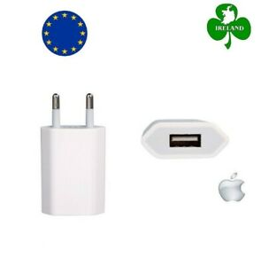 Apple iPhone X 8 7 6 5 5S 5C 4S 4 EU AC Plug Wall Mains USB Charger Adapter New