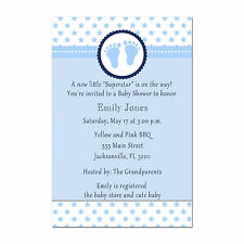 30 Superstar Invitation Cards Baby Boy Shower Invites Sports Personalized A1