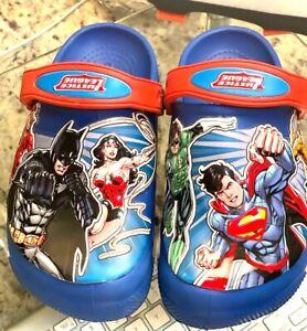 Crocs Justice League Light Up Size J 1 Blue