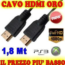 FULL K HD 24 CAVO ORO HDMI 1,8 m 1080p 1,8M XBOX 360 PS3 HDTV CAVETTO  MT