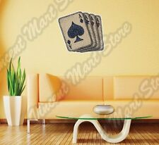 "Playing Card Aces Ace Deck Spades Poker Wall Sticker Room Interior Decor 22""X22"""