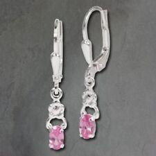 Orecchini di lusso rosa pendente in argento
