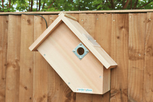 Bird Box HD Wired Camera | Garden Nest Hanging Colour 1080p Wooden Side View Cam