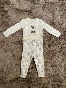 NEXT BABY BOYS 6-9 MONTHS MILK TOP, LEGGINGS SET OUTFIT, BUNDLE, COMBINE POST