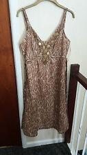 Size 14 Animal Print Brown Summer Dress