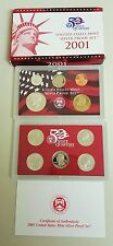 2001 UNITED STATES MINT SILVER   PROOF SET