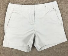 Women's Tommy Hilfiger Beige Shorts Size 6 100% Cotton Pockets