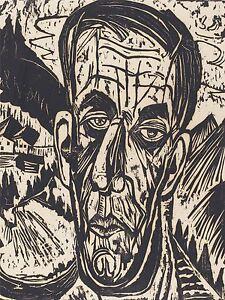 ERNST LUDWIG KIRCHNER GERMAN HEAD VAN DE VELDE BRIGHT ART PRINT POSTER BB5281A