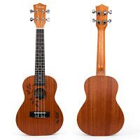 Kmise Concert Ukulele Acoustic Hawaiian Hawaii Guitar 23 Inch 18 Fret Sapele