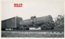 6H905 RP 1943 WRECK SOUTHERN RAILWAY TRAIN/ENGINE 4914 BROKEN DRAW BAR STACEY NC