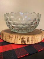 Large BEAUTIFUL Vintage Crystal Cut Glass Bowl  Fostoria