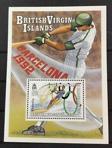 VIRGIN ISLANDS # 687. SOUVENIR SHEET, BARCELONA '92 OLYMPICS. MNH