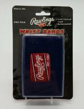 "Rawlings 4"" Glove Wristbands (10.16 cm) One Pair Navy Blue Baseball Softball RW4"