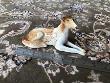 Porcelain Figure Dog: Royal Dux / Czechoslovakia. Afghan Hound