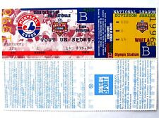 1996 Montreal Expos NL Division Series Phantom Unused Ticket French
