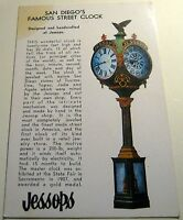 United States San Diego's Famous Street Clock Jessops - posted stained