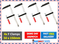 4 x F Clamps Bar Clamp 4pc Set Quick Slide Wood Clamp 150mm x 50mm Long 25-11
