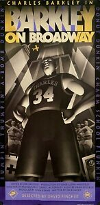 "ORIGINAL CHARLES BARKLEY ON BROADWAY RARE NIKE POSTER 42"" X 21 1/2 1992 MINT"