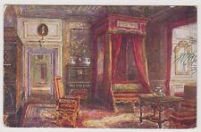 Warwickshire postcard - Queen Ann's Bedroom, Warwick Castle - W W Quatremain