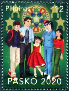 PHILIPPINES 2020 FIGHT VIRUS 19 PANDEMIC IN THE CHRISTMAS SEASONS 1 STAMP MINT