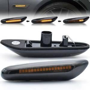 2X For BMW E90 E92 E60 E87 E82 LED Dynamic Smoked Side Indicator Turn Signal