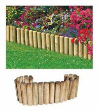 Bordura Rollborder per Aiuole Giardino Recinzione Steccato in Legno H30'CM X2M