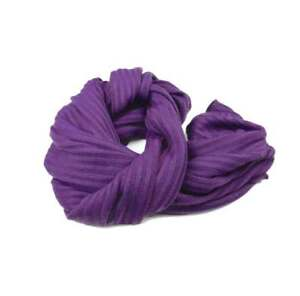 SCIARPA VIOLA Uomo Donna a costine in  LANA wool sciarpe calde MADE IN ITALY
