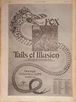 Fox Tails of Illusion tour 1975 press advert Full page 28 x 39 cm poster