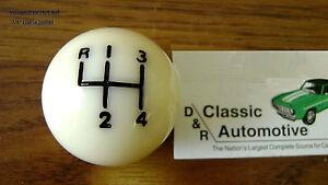 3DAY SALE Shift Ball Knob White 3/8 Coarse Thread 4-speed Shifter fits hurst