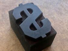 Antique Printing Wood Type Block Cool Dollar Sign Money Symbol Cash Currancy