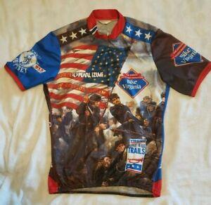 Pearl Izumi Bike Virginia Cycling Shirt Short Sleeve Jersey Men's Sz L