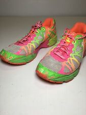 Asics Womens Gel Noosa Tri 9 Running Shoes Pink Green Low Top Colorful C401N 5