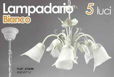LAMPADARIO 5 LUCI  BIANCO DA SOFFITTO NAP-674600
