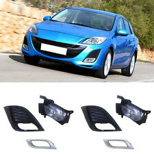 For Mazda 3 2010-2011 Front Fog Light(No Bulb)+Fog Lamps Decoration Cover Trim