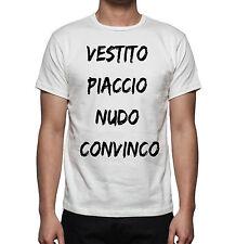 T-SHIRT UOMO HAPPINESS REGALO ESTATE 2016  VESTITO PIACCIO NUDO CONVINCO