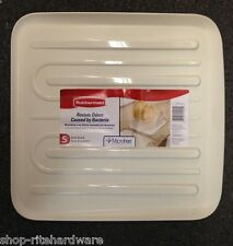 NEW RUBBERMAID SMALL BISQUE / ALMOND SLOPED DISH DRAINER TRAY MAT DRAIN BOARD