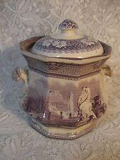 Antique Transfer Ware Biscuit Jar