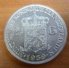 PAYS BAS NIEDERLANDE 2 1/2 Gulden silber WILHELMINA 1939
