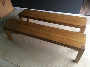 Handmade Oak Dining Bench (2 Of 2 Available)